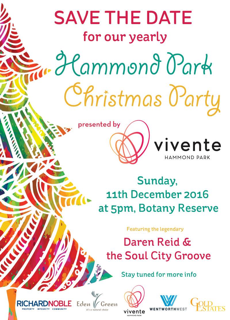 Christmas Save The Date Graphics.Hammond Park Christmas Party Vivente Estate