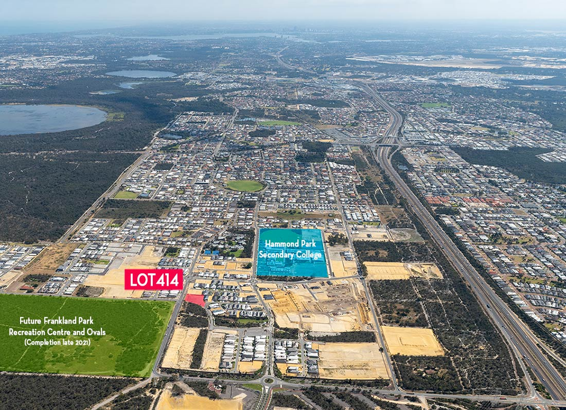 Hammond Park Aerial with lot 414