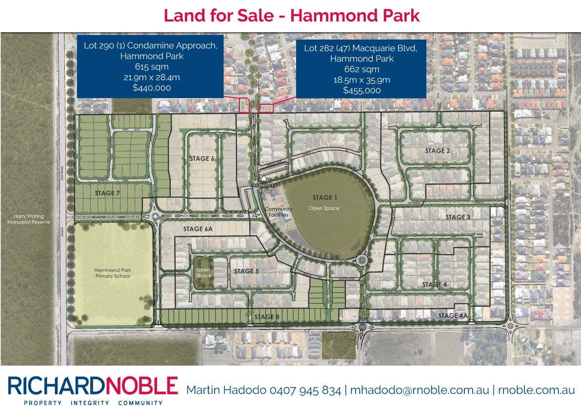 Hammond Park Land For Sale Richard Noble And Company