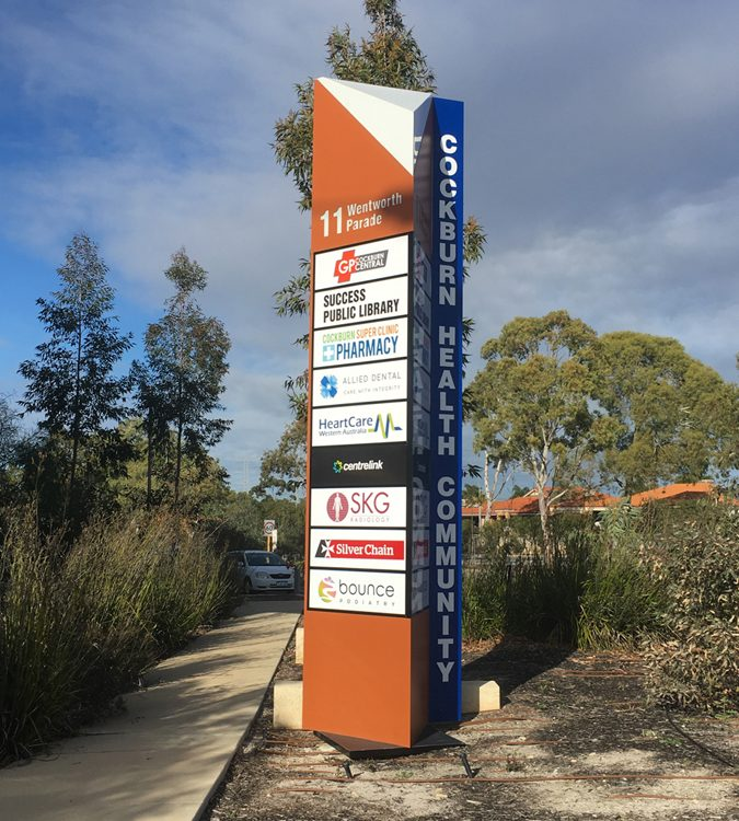 Cockburn Gateway Shopping City signpost