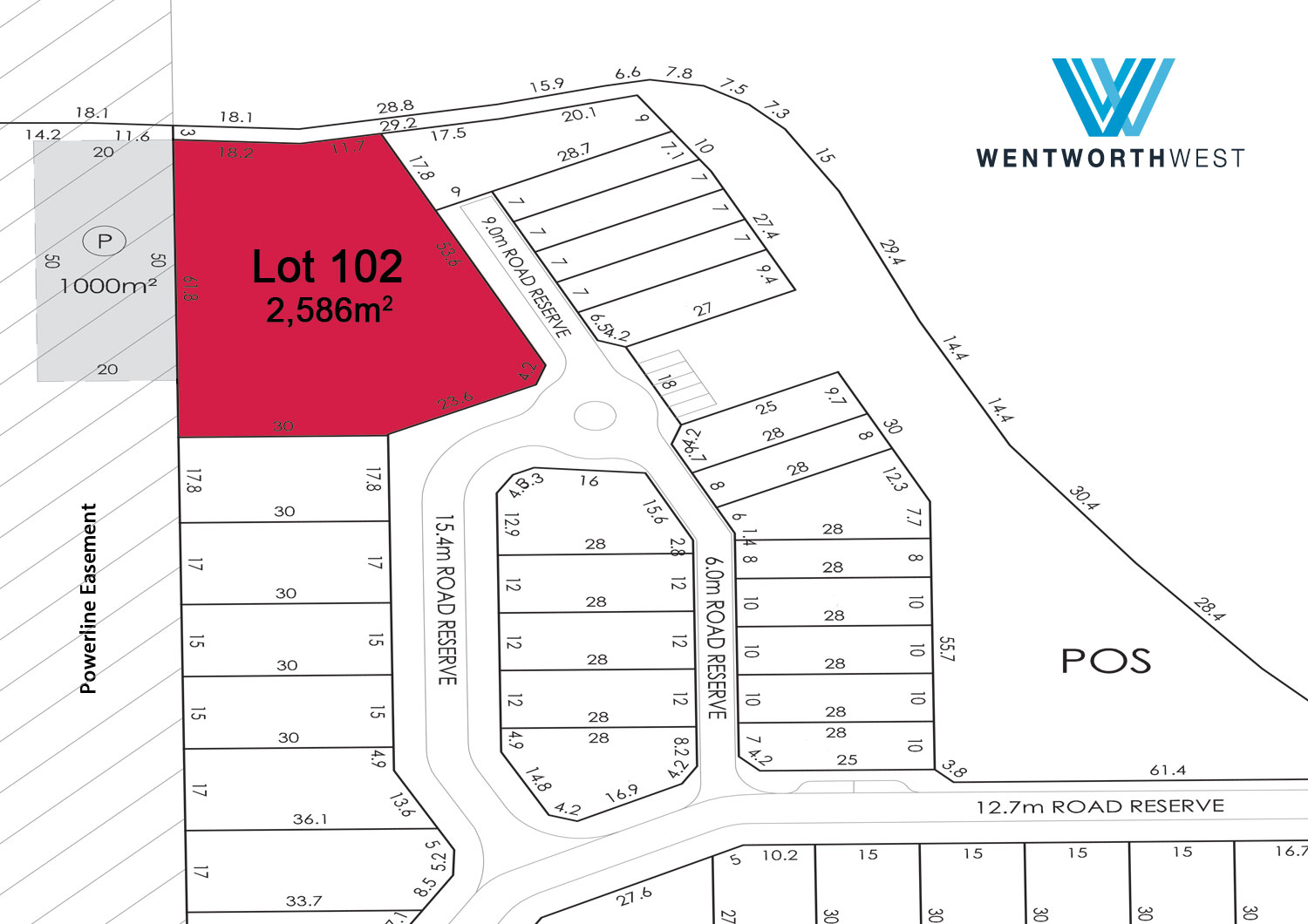 Wentworth West Lot 102 Plan
